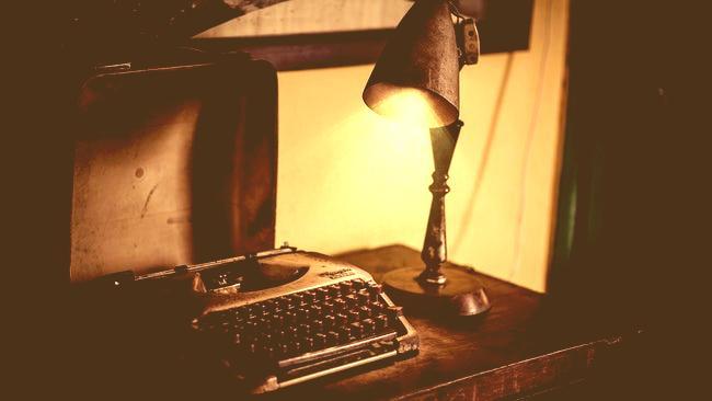 typemachine voor het schrijven van een levensverhaal